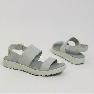 Ecco Freja 2-Strap Dove Gray Comfort Sandals